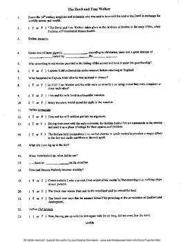 Printables The Devil And Tom Walker Worksheet the devil and tom walker complete guided by teacher man reading worksheet