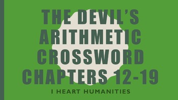 The Devil's Arithmetic Vocabulary Crossword Chapters 12-19