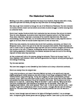 The Dialectical Notebook