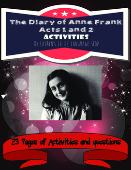 The Diary of Anne Frank Play Activities