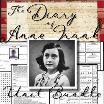 The Diary of Anne Frank Play Packet: Unit Project, Crosswo
