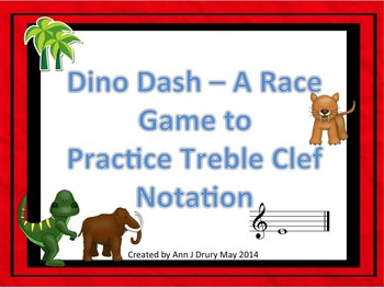 The Dino Dash - A Race Game to Practice Treble Clef Notation