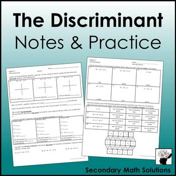 The Discriminant Notes