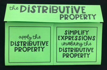 The Distributive Property (Foldable)