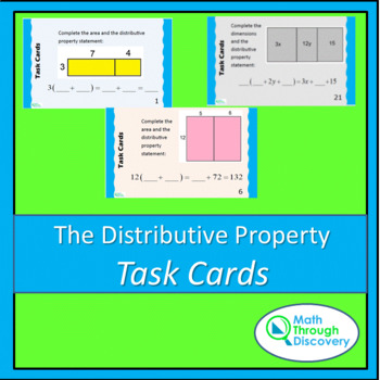 The Distributive Property Task Cards