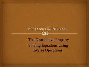 The Distributive Property (and more) PPT