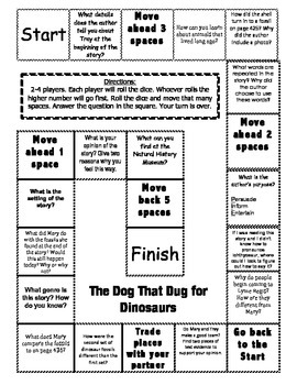 """The Dog That Dug for Dinosaurs"" 2nd grade Journeys compre"