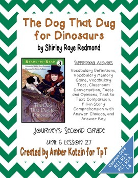 The Dog That Dug for Dinosaurs Activities 2nd Grade Journe