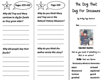 The Dog That Dug for Dinosaurs Trifold - Journeys 2nd Grad