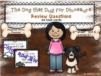 The Dog that Dug for Dinosaurs Review Task Cards for Hough