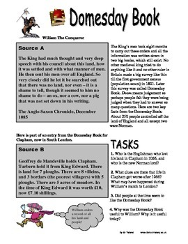The Domesday (Doomsday) Book Worksheet