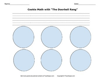 The Doorbell Rang Cookie Math Activity with Directions.  M