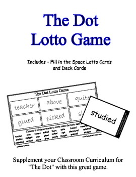 The Dot (by Peter H. Reynolds) Supplemental Lotto Game - W