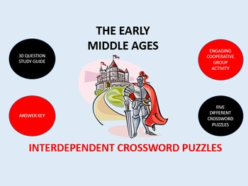 The Early Middle Ages: Interdependent Crossword Puzzles Activity