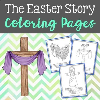 The Easter Story Coloring Pages or Posters, Bible Verse, N
