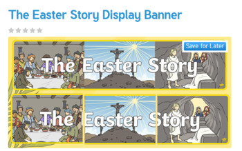 The Easter Story Display Banner