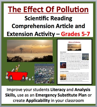 The Effects of Pollution - Scientific Reading Comprehensi