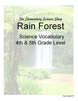 Rain Forest (The Elementary Science Shop) - Grades 4-5