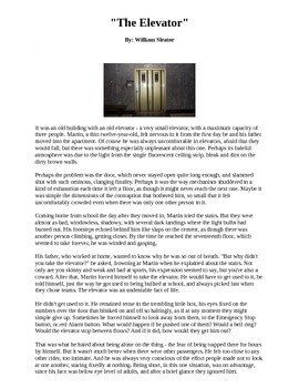 The Elevator Short Story by William Sleator