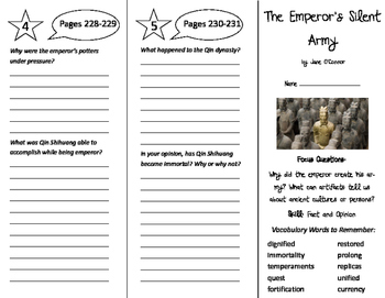 The Emperor's Silent Army Trifold - Imagine It 6th Grade U