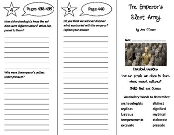 The Emperor's Silent Army Trifold - Journeys 6th Grade Uni
