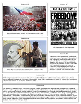 The End of the Cold War (Document Packet) (2 of 2)