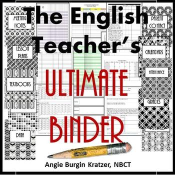 The English Teacher's Ultimate Binder {High School Art Dec