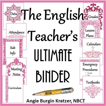 The English Teacher's Ultimate Binder {High School Pink Filigree}