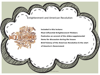 The Enlightenment and American Revolution
