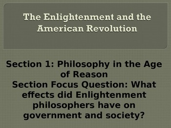 The Enlightenment and American Revolution PowerPoint with