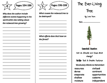 The Ever-Living Tree Trifold - Journeys 4th Grade Unit 5 W