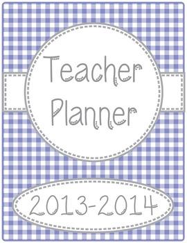 The Everything Editable Teacher Planner/Organizer-Gingham Print