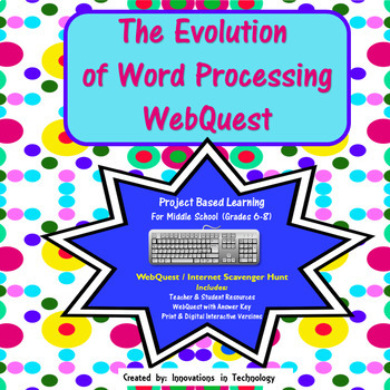The Evolution of Word Processing WebQuest (Internet Scaven