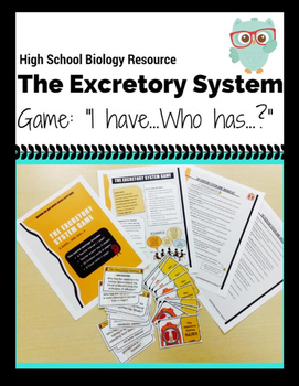 Interactive Excretory System Game (I have ..., Who has...?)