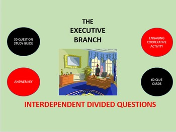 The Executive Branch: Interdependent Divided Questions Activity