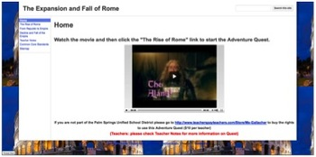 The Expansion and Fall of Rome Adventure Quest w/ Common C