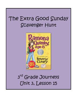The Extra Good Sunday Scavenger Hunt, 3rd Grade Journeys,