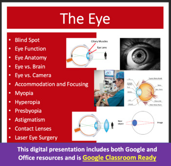 The Eye Lesson - Optics PowerPoint Lesson & Student Notes Package