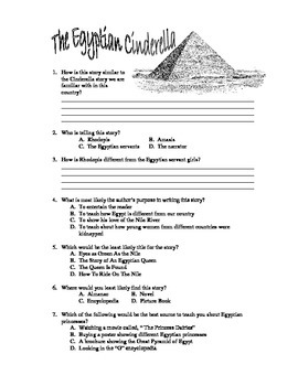 The Egyptian Cinderella - Book Test & Bonus Book Report