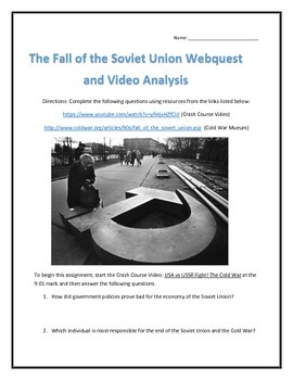 The Fall of the Soviet Union- Webquest and Video Analysis