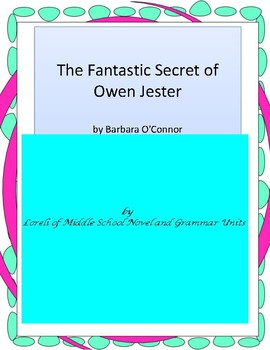 The Fantastic Secret of Owen Jester Unit With Literary and