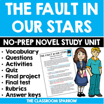 The Fault in Our Stars Novel Study Unit (includes EVERYTHI