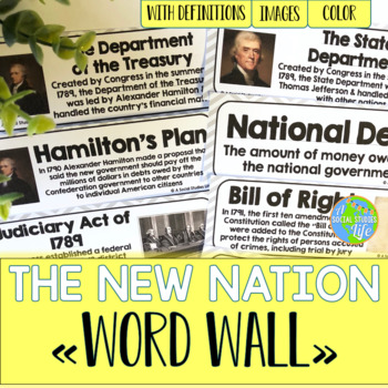 George Washington and John Adams Word Wall