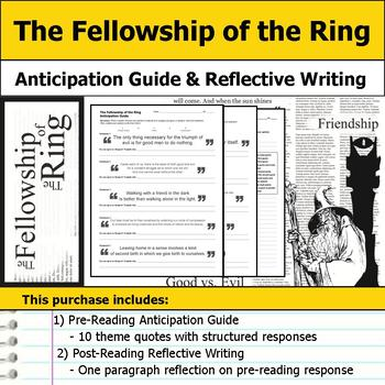 The Fellowship of the Ring - Anticipation Guide & Reflection