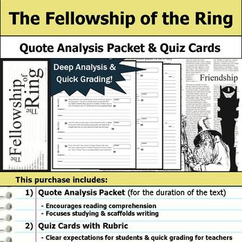 The Fellowship of the Ring - Quote Analysis & Reading Quizzes