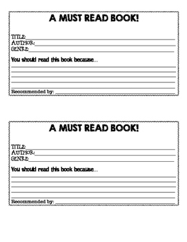 Student Book Recommendation Form