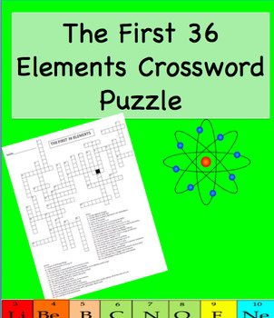 The First 36 Elements Crossword Puzzle