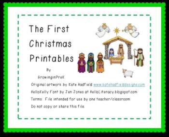 The First Christmas Printables
