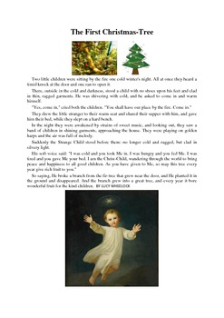 The First Christmas Tree - a one page story about sharing