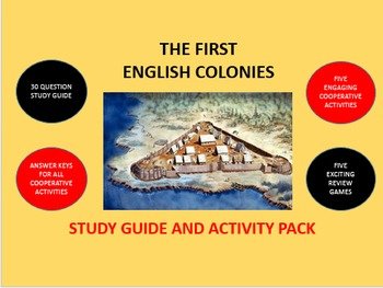 The First English Colonies: Study Guide and Activity Pack